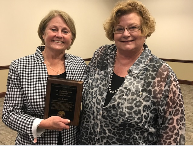 Dee Braden (recipient of the 2017 Dr. Aurthu H. Larson Award) and Susan Real (ECIAAA Executive Director)